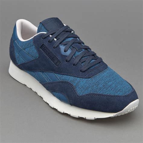 sepatu sneakers reebok cl noble blue