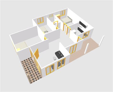 home design 3d cad for the pad video touchmyapps three bed room single story 3d house plan downloaf with