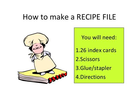how to make a recipe card how to make a recipe file