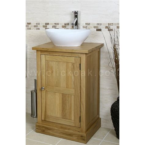 solid oak vanity units for bathrooms solid light oak bathroom vanity unit cube click oak