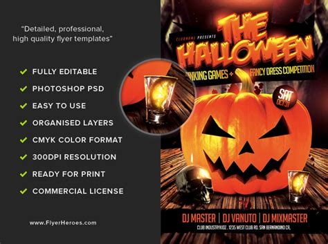 halloween drinking games halloween drinking games flyer template flyerheroes