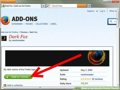 firefox themes edit how to get mozilla firefox themes 4 steps with pictures