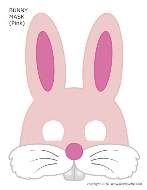printable rabbit mask template free printable halloween masks for kids homemade