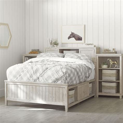 beadboard storage bed medium tower set 2 0 pbteen