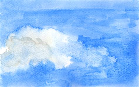 watercolour clouds polly designs