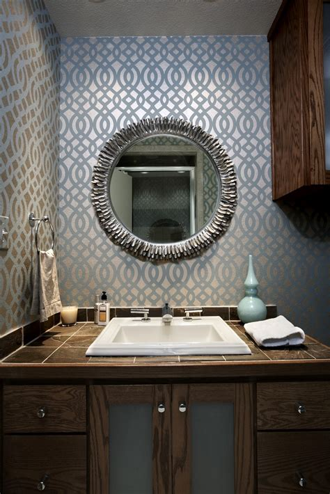 designer bathroom wallpaper mid century modern bathrooms design ideas