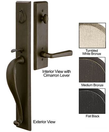 Emtek Products Inc Rectangle Entry 3 Emtek Sandcast Bronze Rectangular Door Entry Set The Emtek Hardware Templates