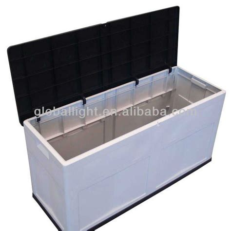 plastic bench with storage high quality uv protected outdoor plastic storage box