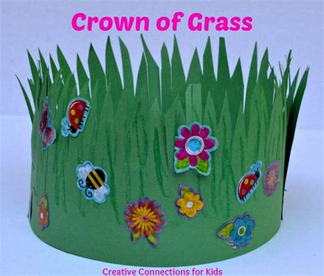 crown craft gonzales la a crown of grass this is spring would be nice to make