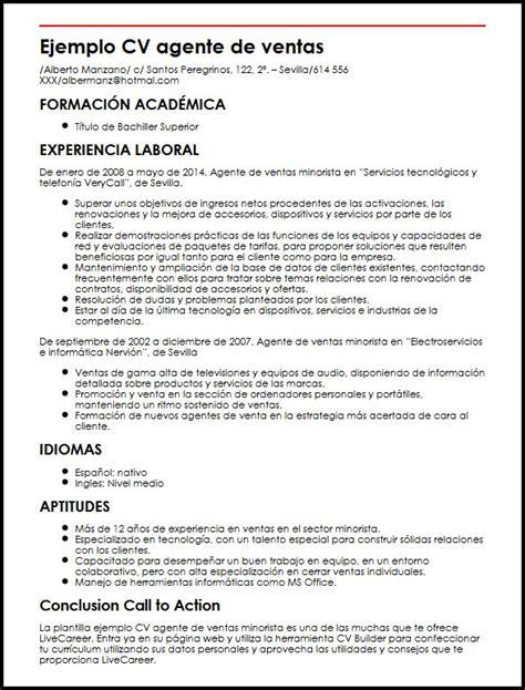 Modelo Curriculum Vitae Gerente De Ventas Ejemplo Cv Agente De Ventas Minorista Micvideal