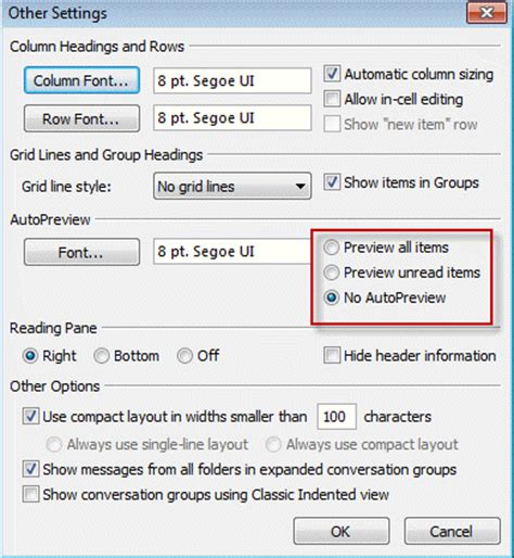 outlook layout email preview tip 1071 auto preview email in outlook 2013 outlook tips