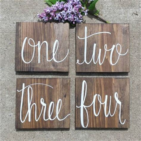 rustic wedding table numbers hanging rustic reserved wedding sign set from
