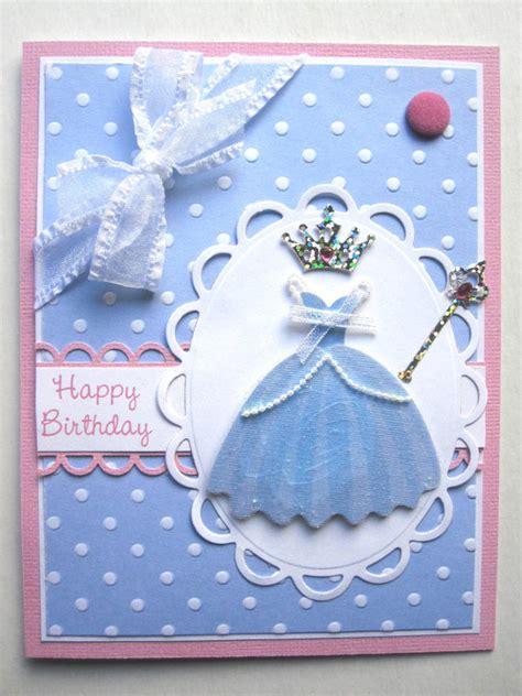 Handmade Supplies - handmade princess birthday card for