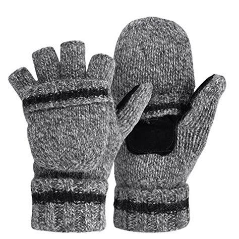knitting patterns for fingerless gloves with mitten cover omechy winter knitted fingerless gloves thermal insulation