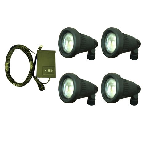 Landscape Light Kit Shop Portfolio Halogen In Spot Light Kit At Lowes