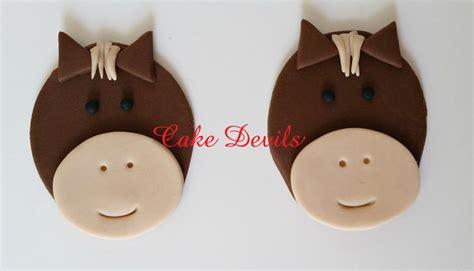 Handmade Cupcake Toppers - fondant cupcake toppers handmade edible horses