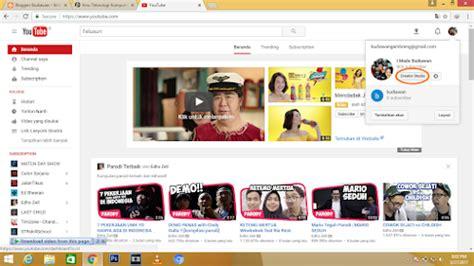 cara membuat channel youtube gaming kangkomar net