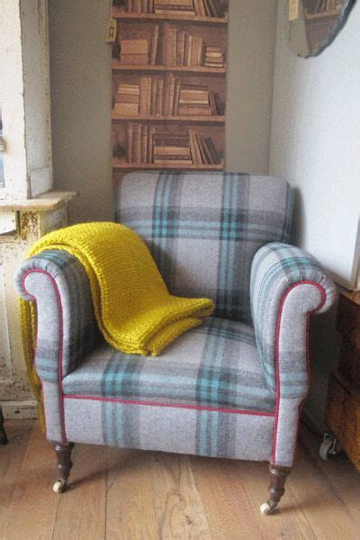 Purple Tartan Armchair Crackle Mug Vintage Chairs And The O Jays