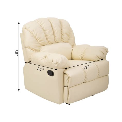 homcom pu leather rocking sofa chair recliner homcom pu leather rocking sofa chair recliner