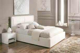 Beautiful white color leather beds by time4sleep freshnist