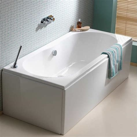 double ended bathtub pura wave 1700 x 750mm double ended bath pbde17x75