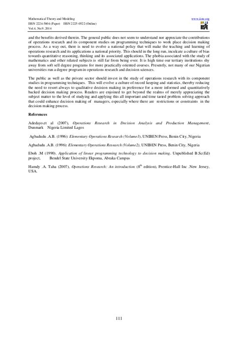 linear programming research papers application of linear programming techniques to practical