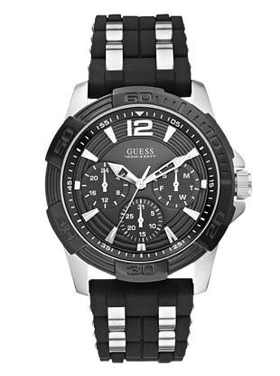 Guess Loop Black Silver black and silver tone masculine sport guess