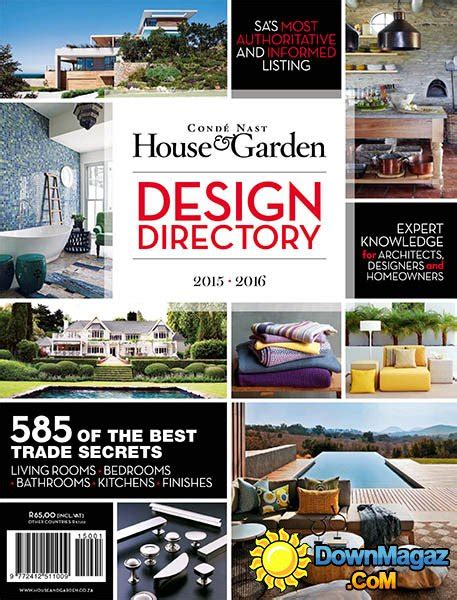 home design magazines 2015 cond 233 nast house garden design directory 2015 2016