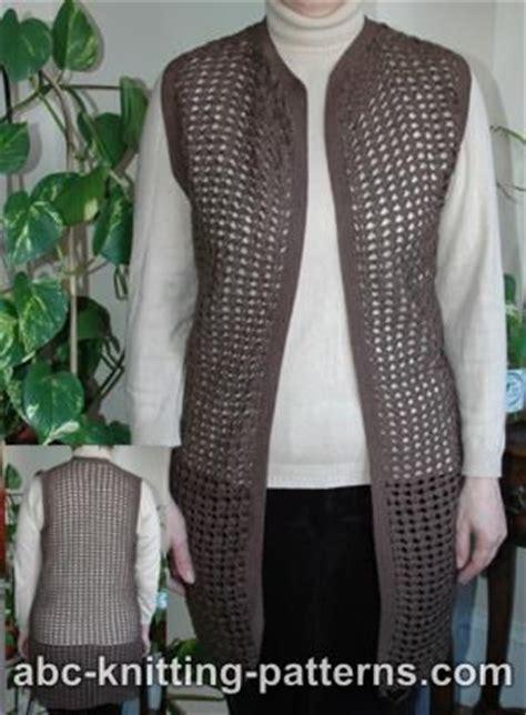 free printable crochet vest patterns abc knitting patterns crochet shell lace vest