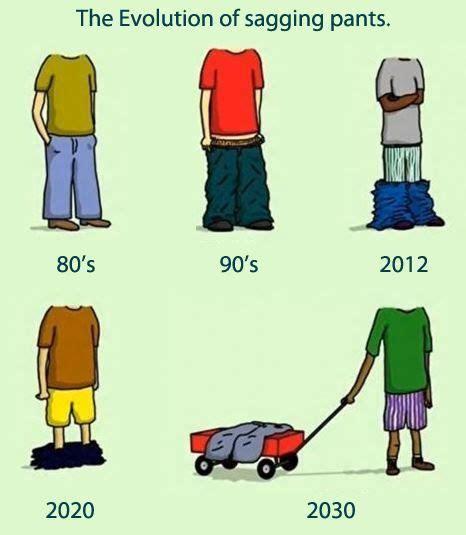 evolution  sagging pants funny memes