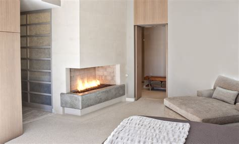 corner bedroom fireplace corner gas fireplace for contemporary bedroom with oak
