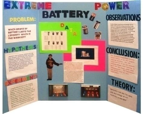 Make A Science Fair Project About Batteries Quot How Does Science Fair Project Poster Board Ideas