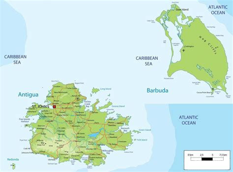 map of antigua and barbuda geo antigua and barbuda detailed view of country