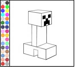 minecraft coloring pages game