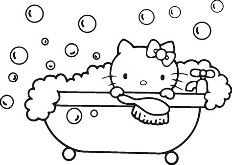 coloring pages printable hello kitty 5 ace images hello kitty takes a bath coloring pages ekids pages