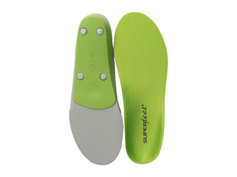 shoe inserts for overpronation running superfeet premium green at zappos