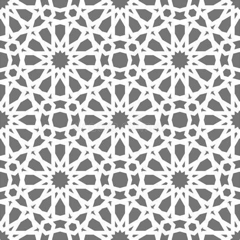 islamic pattern grid islamic seamless vector pattern white geometric ornaments