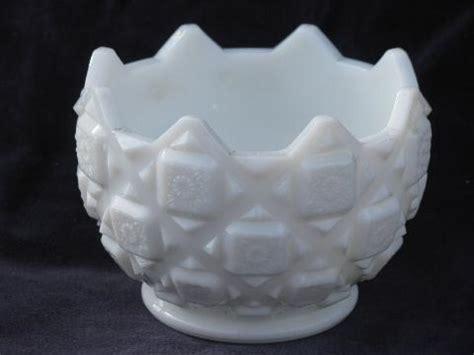 white milk glass l vintage l e smith or indiana glass milk white heritage