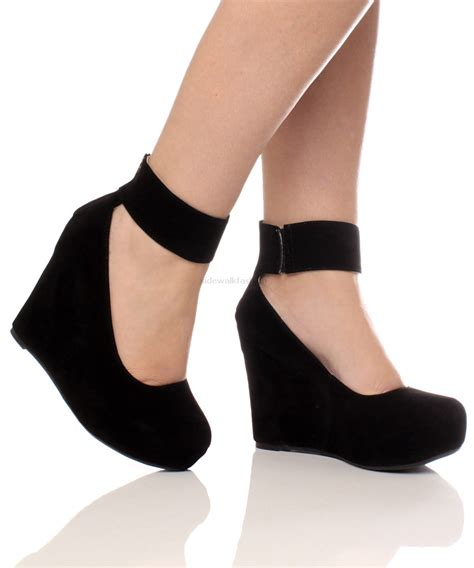 black wedge high heels details about womens gold zip ankle high