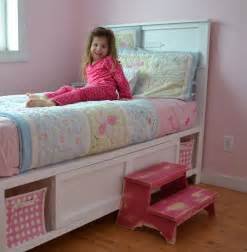 girls twin bed with storage ana white hailey storage bed twin diy projects
