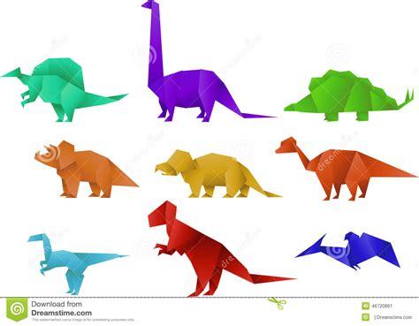 Dinosaurs Origami - dinosaure d origami illustration stock illustration du