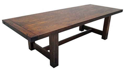 Solid Wood Farmhouse Dining Table Solid Wood Refectory Table Rustic Dining Table Farmhouse