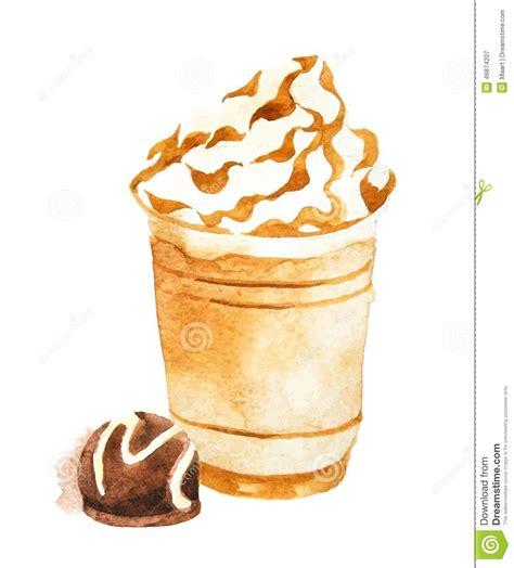 Watercolor Coffee In Plastic Cup Stock Vector   Image: 46874207
