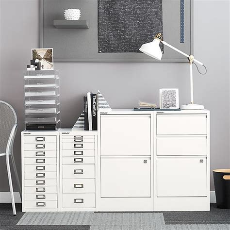 white bisley 2 3 drawer file cabinets the container store
