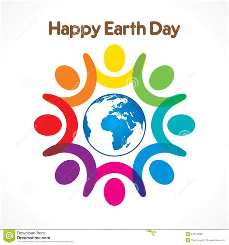 day design happy earth day design stock vector image 51014208