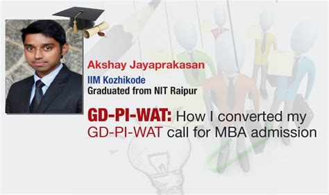 Wat Mba by Cat Topper S Experience Of Gd Pi Wat For Mba Admissions