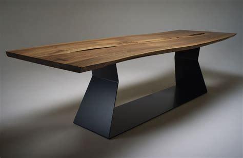 Stunning live edge walnut dining table bespoke wooden furniture