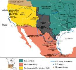 and the mexican war map mexican american war map