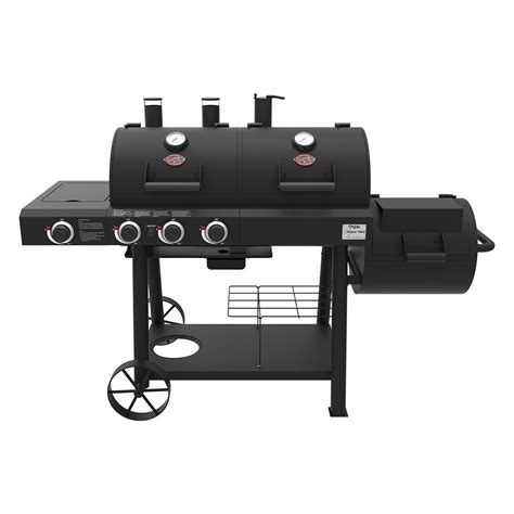 Char Grille by Char Griller Trio 3 Burner Dual Fuel Grill With