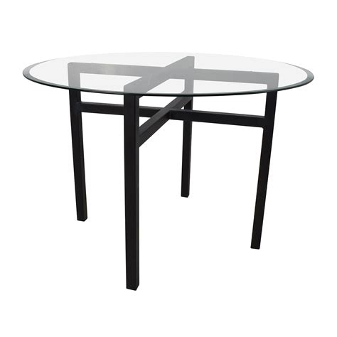 glass top for dining room table 69 off room and board room board benson glass top dining table tables